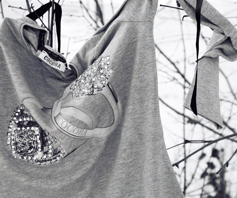 Grey t-shirt | Cocoba Fashion House S.r.l.